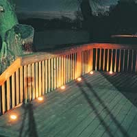 Recessed deck lighting has a beautiful subtle look as well as in deck lighting disks are very small 3 in diameter and can be walked on aloadofball Images
