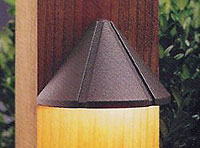 Low voltage deck light that is mounted to a post