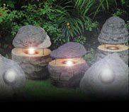 Picture of low voltage outdoor lights.